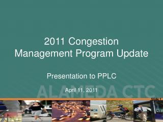 2011 Congestion Management Program Update