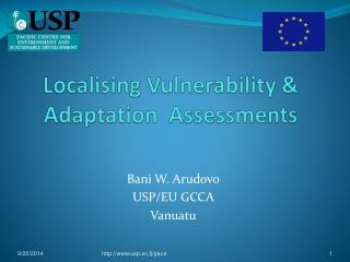 Localising Vulnerability &  Adaptation  Assessments