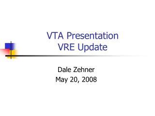 VTA Presentation VRE Update