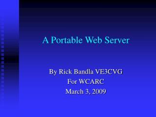 A Portable Web Server