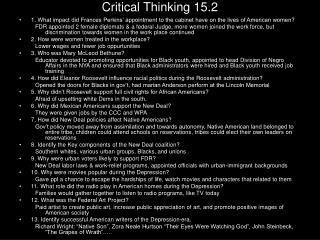 Critical Thinking 15.2