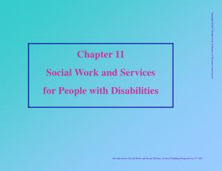 Chapter 11 Social Work and Services  for People with Disabilities