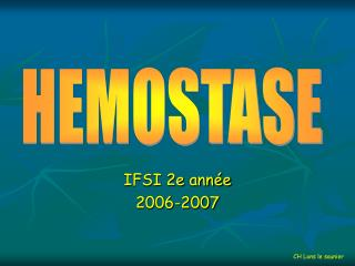 IFSI 2e année 2006-2007