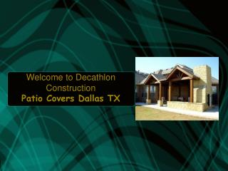 Patio Covers Dallas TX