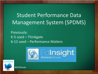 Student Performance Data Management System SPDMS