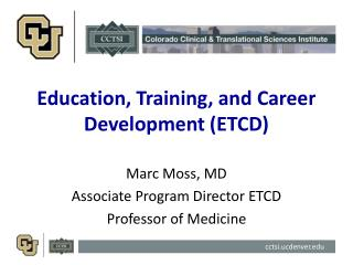 Education, Training, and Career Development (ETCD)