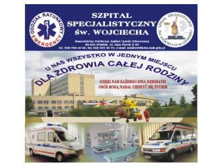 Do Szpitala trafiają pacjenci z dość dużego regionu okolicznych osiedli, ale nie tylko: