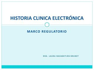 HISTORIA CLINICA ELECTR�NICA
