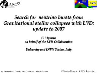 Search for  neutrino bursts from Gravitational stellar collapses with LVD: update to 2007