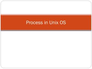 Process in Unix OS