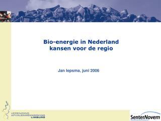 Bio-energie in Nederland kansen voor de regio