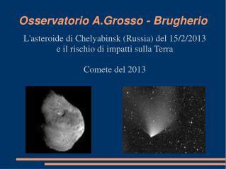 Osservatorio A.Grosso - Brugherio