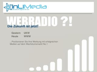 Webradio zukunft