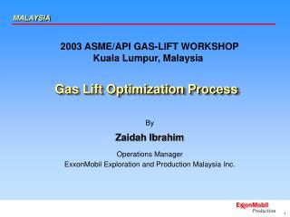 Gas Lift Optimization Process