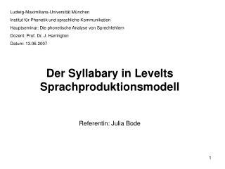 Ludwig-Maximilians-Universität München Institut für Phonetik und sprachliche Kommunikation