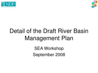 Detail of the Draft River Basin Management Plan