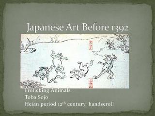 Japanese Art Before 1392