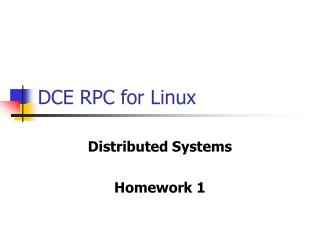 DCE RPC for Linux