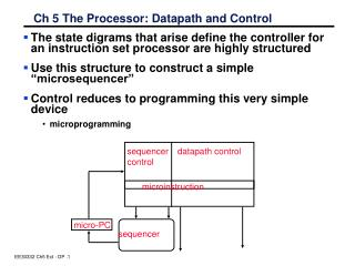 Ch 5 The Processor: Datapath and Control