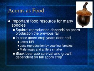Acorns as Food