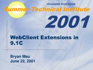 WebClient Extensions in 9.1C