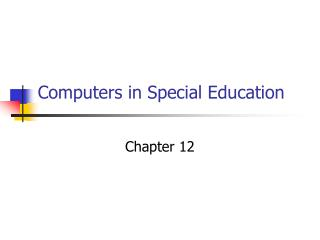 Computers in Special Education