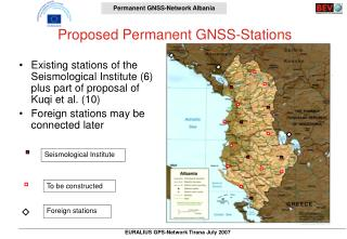 Proposed Permanent GNSS-Stations