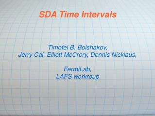SDA Time Intervals