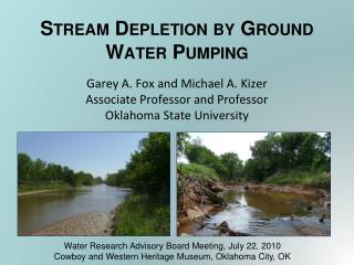 Stream Depletion by Ground Water Pumping
