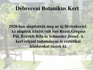 Debreceni Botanikus Kert