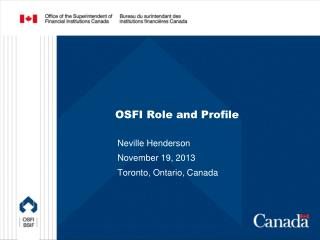 OSFI Role and Profile