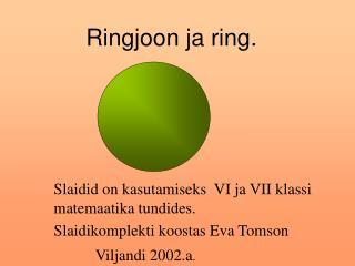 Ringjoon ja ring.