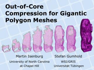 Out-of-Core Compression for Gigantic Polygon Meshes