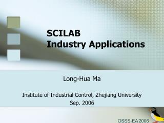 SCILAB  Industry Applications