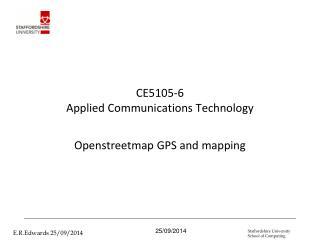 CE5105-6  Applied Communications Technology