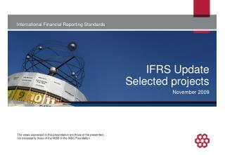 IFRS Update Selected projects
