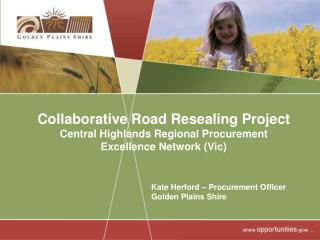 Collaborative Road Resealing Project