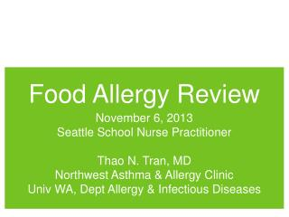 Food Allergy Review