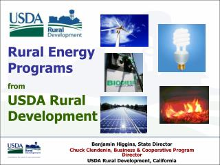 Rural Energy  Programs  from USDA Rural  Development