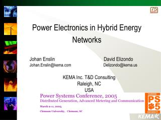 Power Electronics in Hybrid Energy Networks