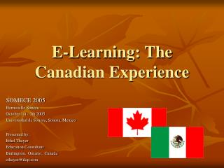 E-Learning: The Canadian Experience