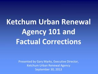 What is Urban Renewal?