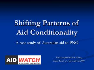 Shifting Patterns of Aid Conditionality