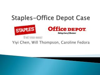 Staples-Office Depot Case