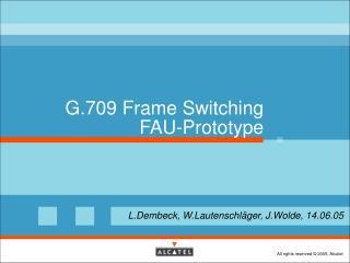 G.709 Frame Switching FAU-Prototype