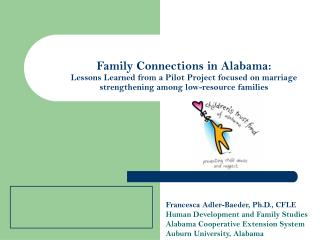 Francesca Adler-Baeder, Ph.D., CFLE Human Development and Family Studies