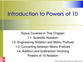 Introduction to Powers of 10