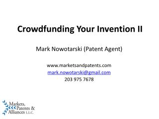 Crowdfunding Your Invention II