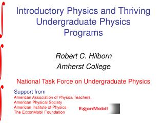 Introductory Physics and Thriving Undergraduate Physics Programs