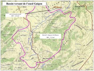 Bassin O. Guigou à Ait Hamza SBV : 731 km²